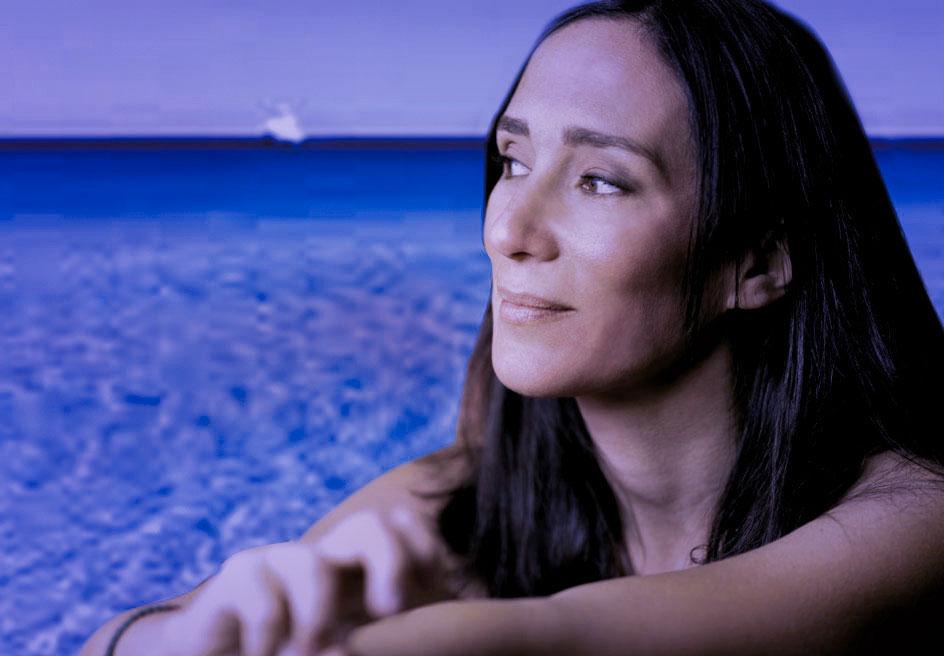 """Chiara Gamberale autrice de """"L'Isola dell'abbandono""""."""